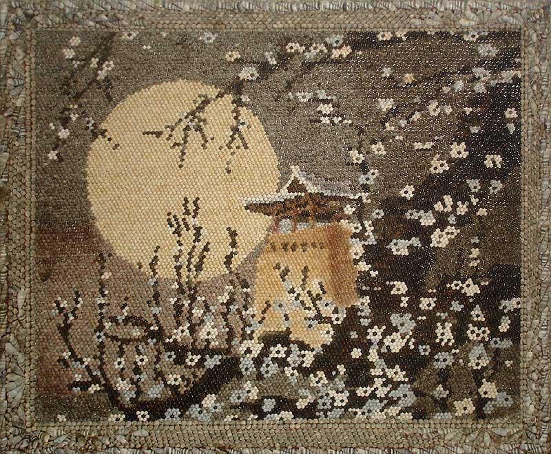Корейская мозаика из раковин